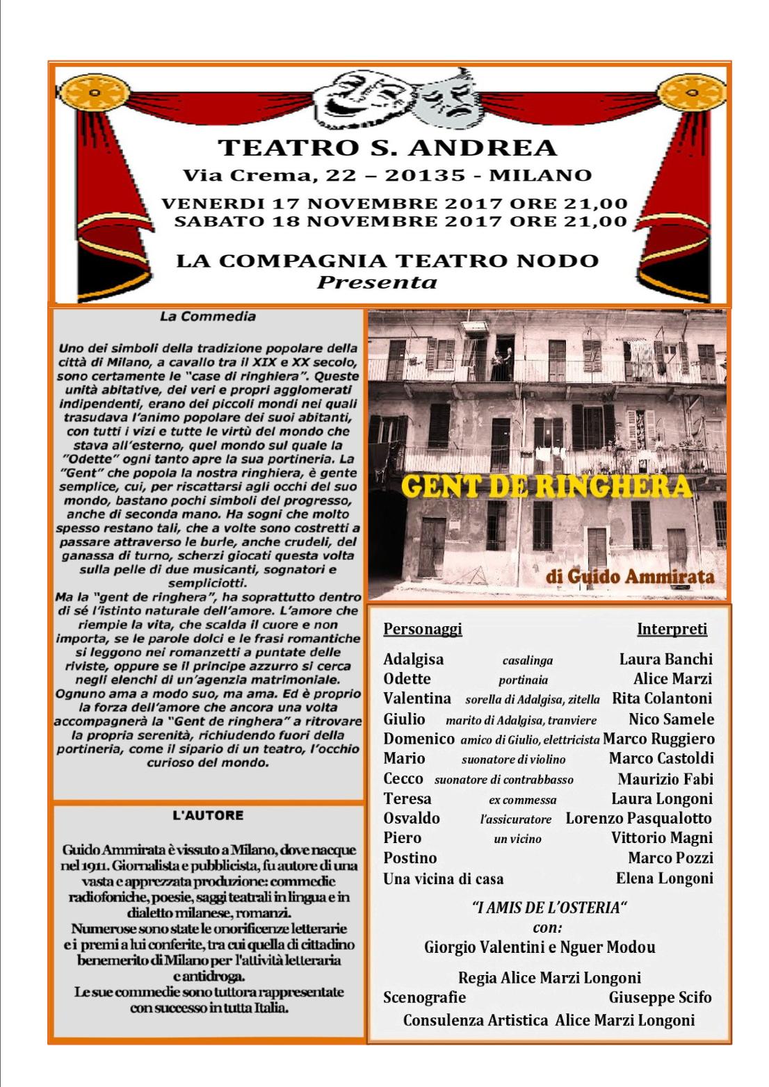 Gent de Ringhera @ Teatro Sant'Andrea