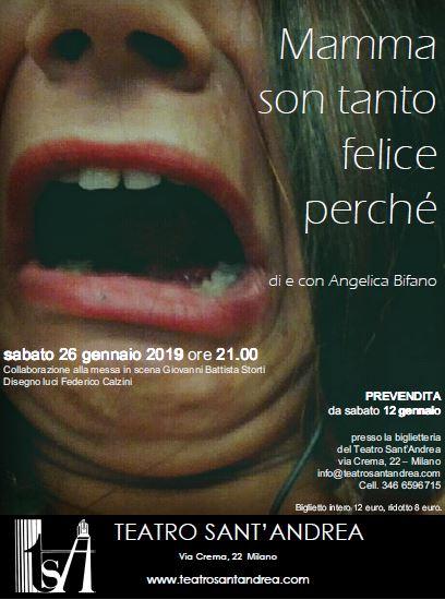 Angelica Bifano - Mamma son tanto felice perché @ Teatro Sant'Andrea