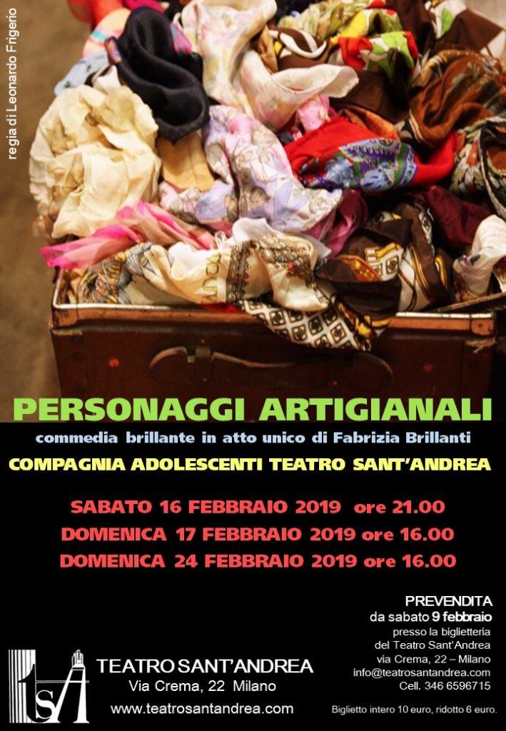 Personaggi Artigianali - Compagnia Teatro Sant'Andrea Adolescenti @ Teatro Sant'Andrea